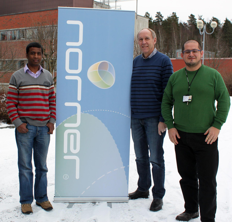 Project approvals from BIA. Picture of Ravindra Chowreddy, Harry Øysæd and Carlos Barreto