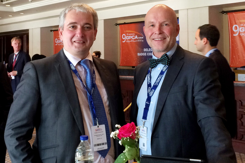From left -Sergey Komyshan, SIBUR's Managing Director – Head of Basic Polymers Division,Lars H. Evensen, Director Business Development at Norner.